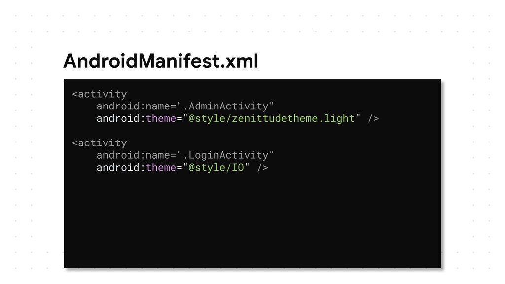"""AndroidManifest.xml <activity android:name="""".Ad..."""