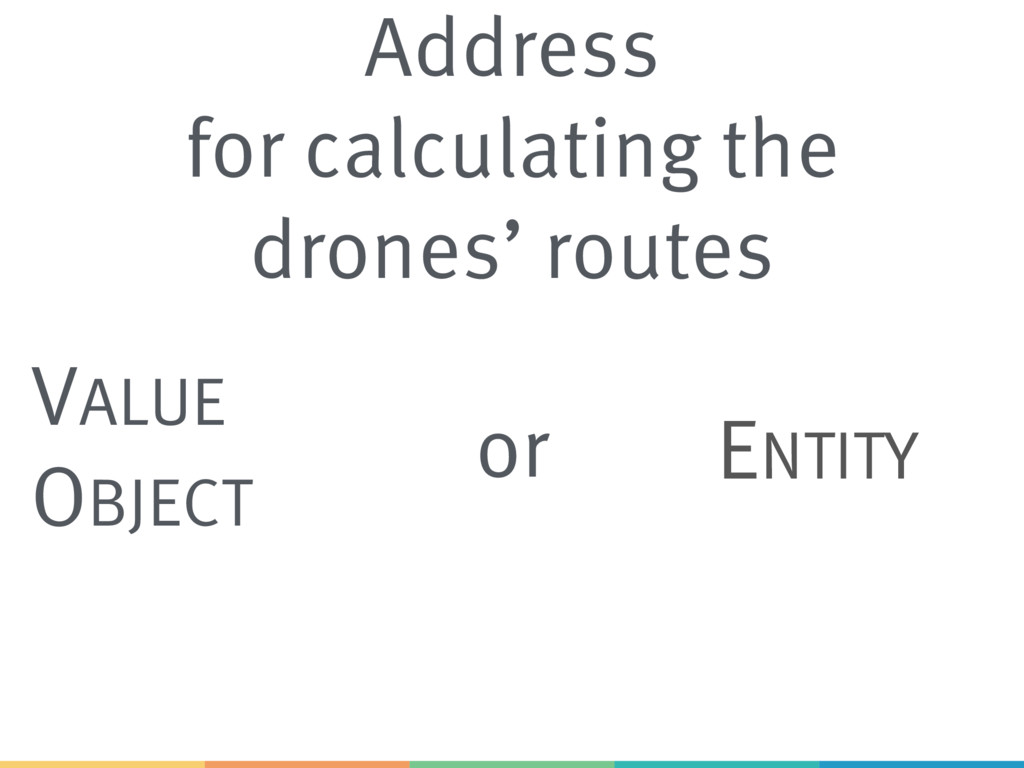 Address for calculating the drones' routes VALU...