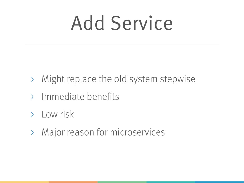 Add Service > Might replace the old system step...