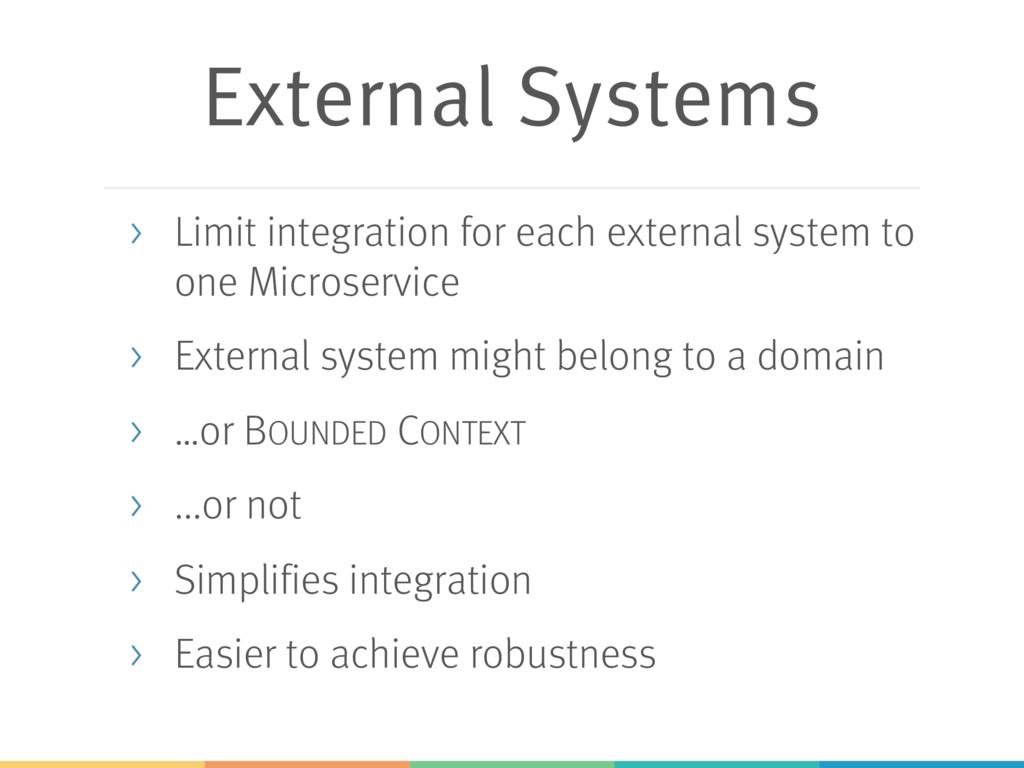 External Systems > Limit integration for each e...