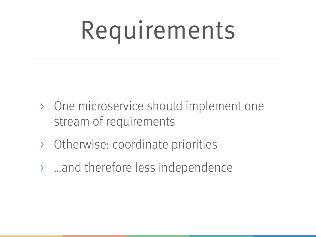 Requirements > One microservice should implemen...