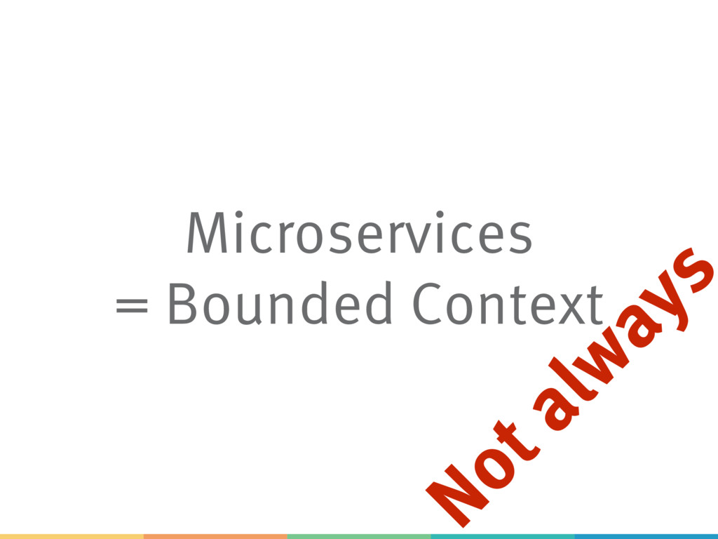 Microservices = Bounded Context