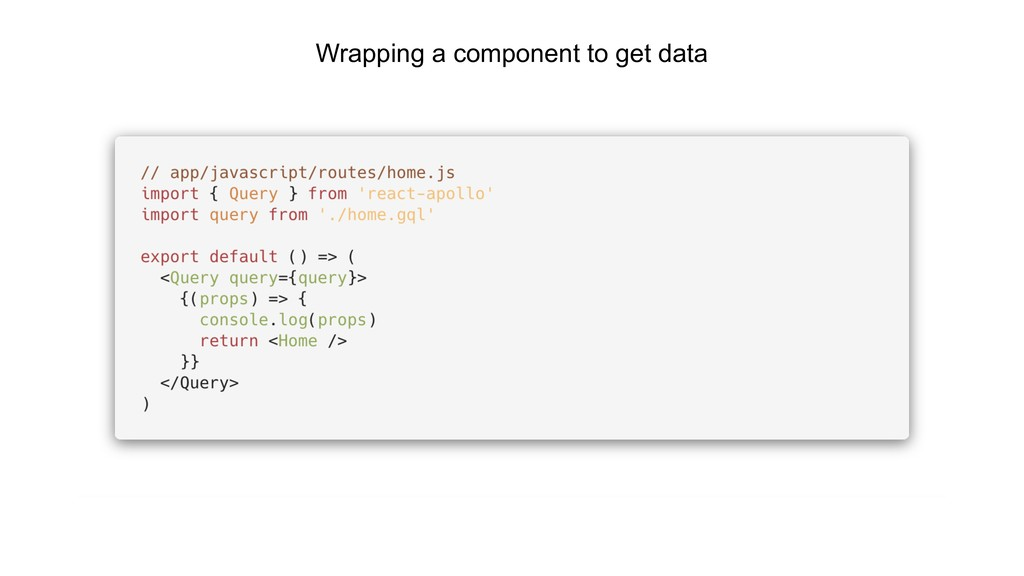 Wrapping a component to get data