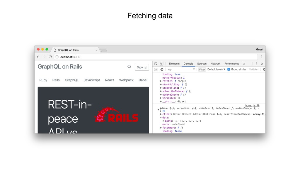 Fetching data