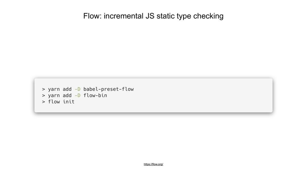 Flow: incremental JS static type checking https...
