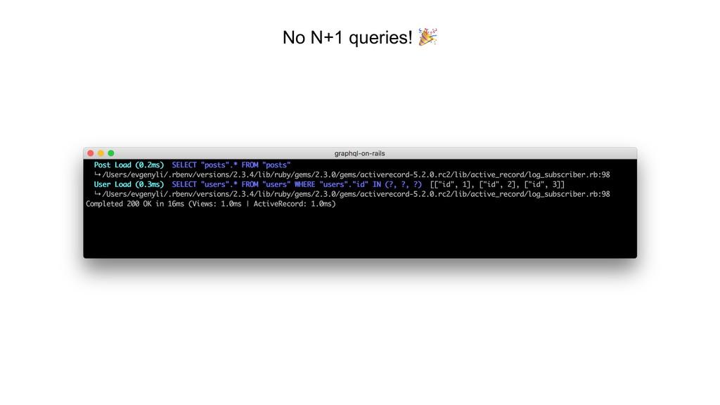 No N+1 queries! __