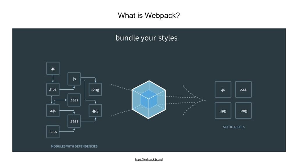 What is Webpack? https://webpack.js.org/