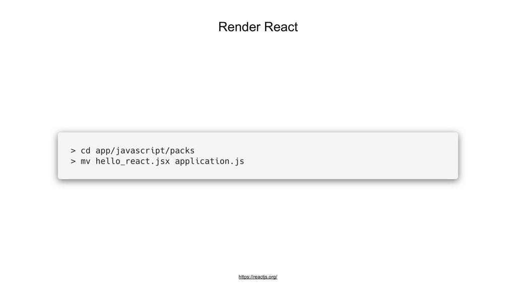Render React https://reactjs.org/