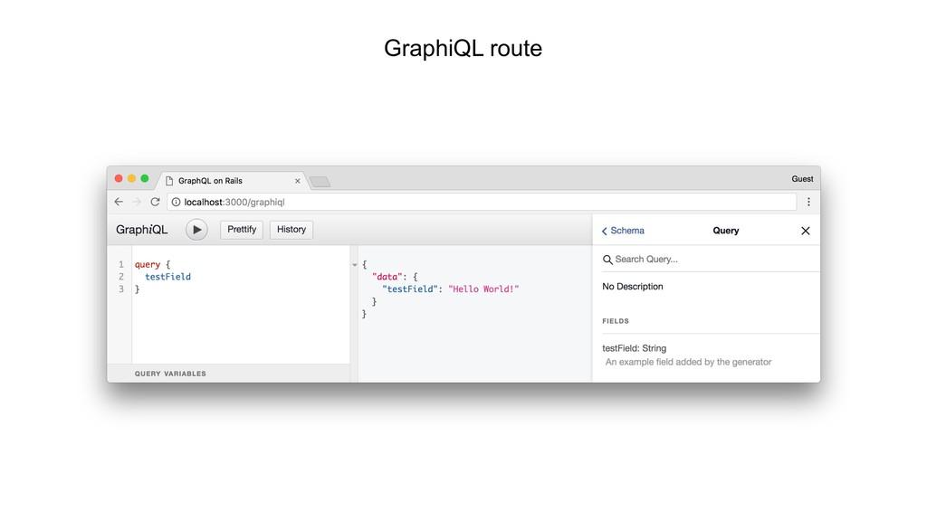 GraphiQL route