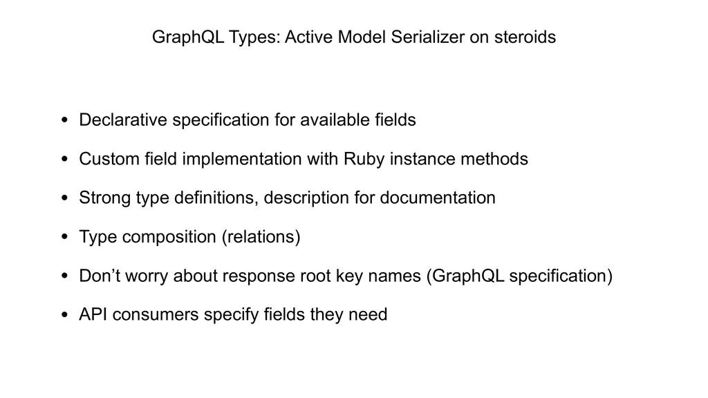 GraphQL Types: Active Model Serializer on stero...