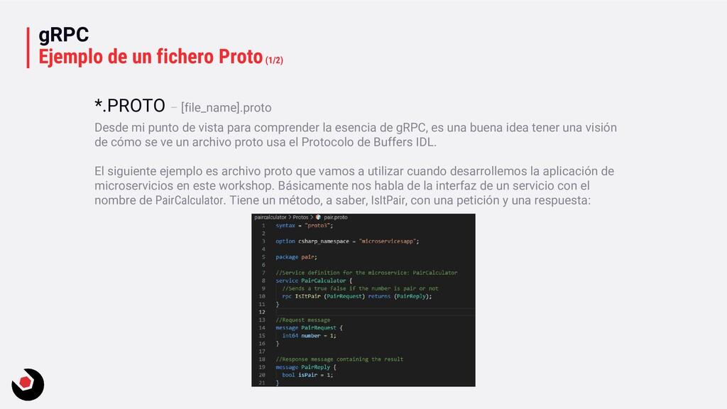 gRPC Ejemplo de un fichero Proto(1/2) Desde mi ...