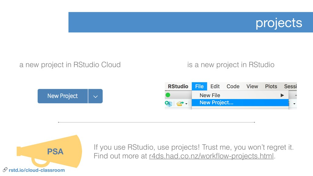 projects a new project in RStudio Cloud is a ne...
