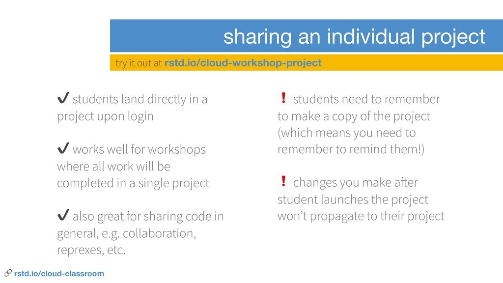sharing an individual project ✔ students land d...