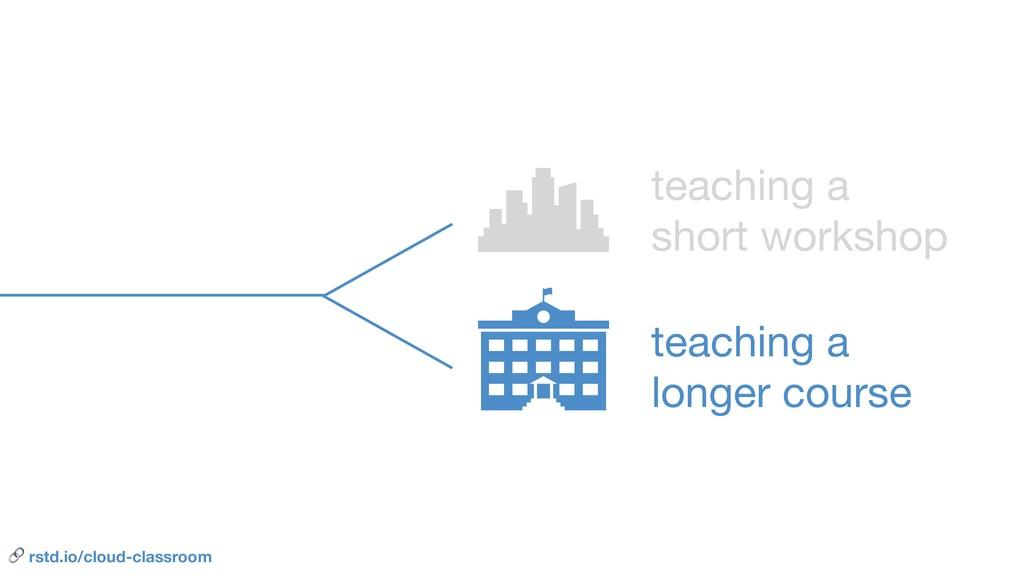 teaching a   short workshop teaching a   longer...