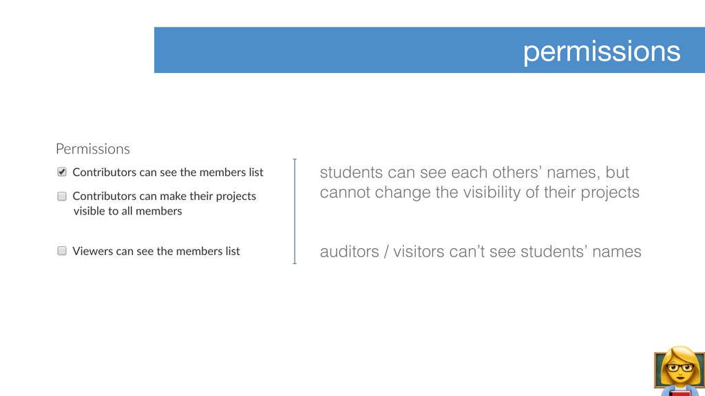 permissions students can see each others' names...
