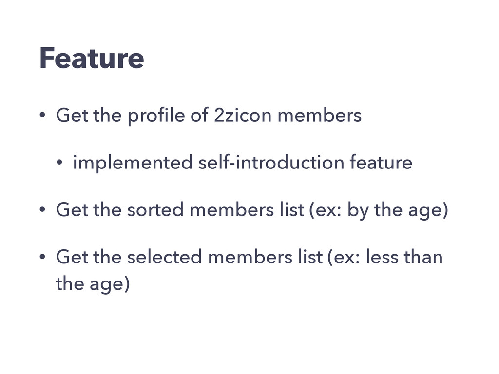 Feature • Get the profile of 2zicon members • im...