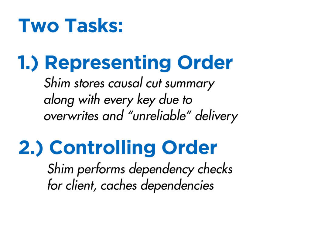 1.) Representing Order Two Tasks: 2.) Controlli...