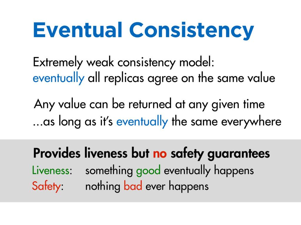 Eventual Consistency eventually all replicas ag...