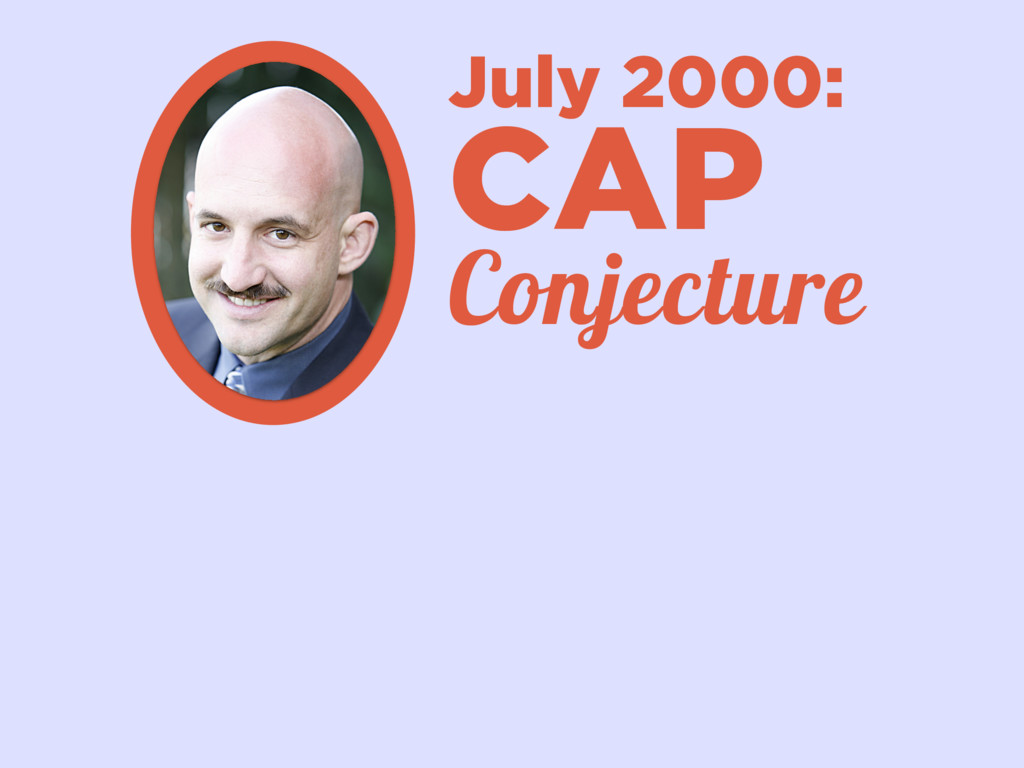 July 2000: CAP Conjecture