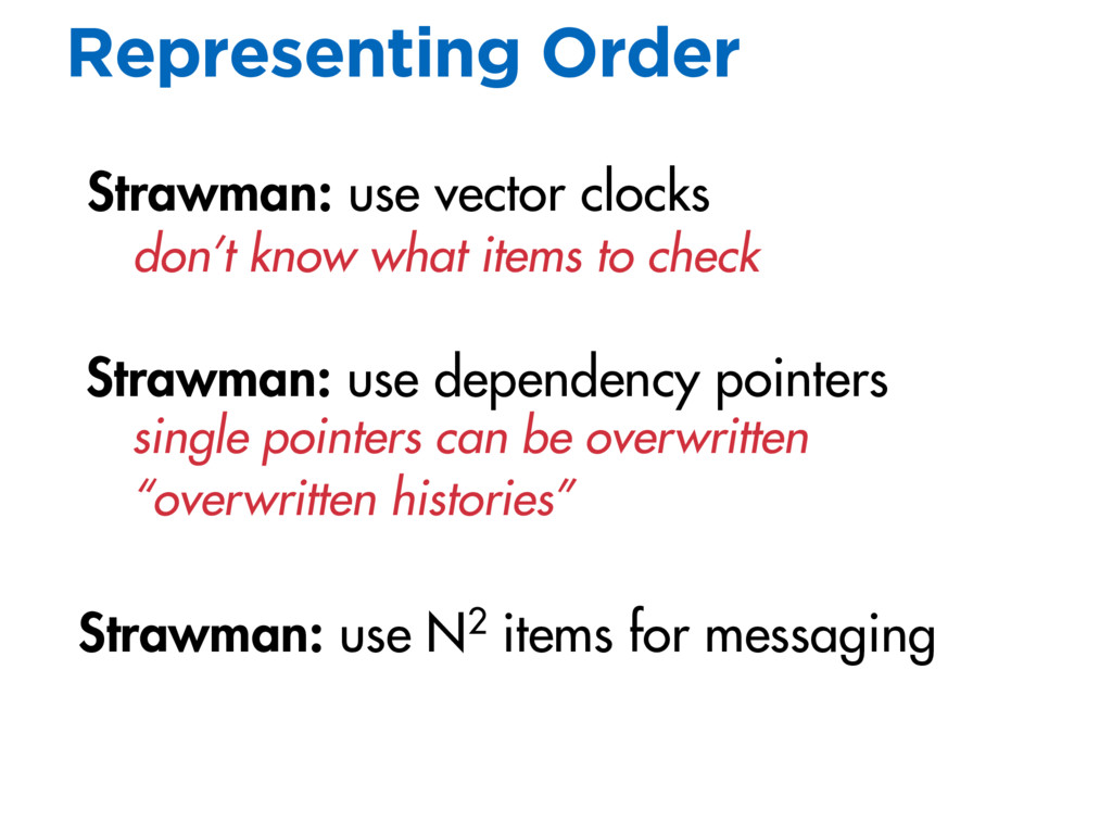 Strawman: use dependency pointers Representing ...