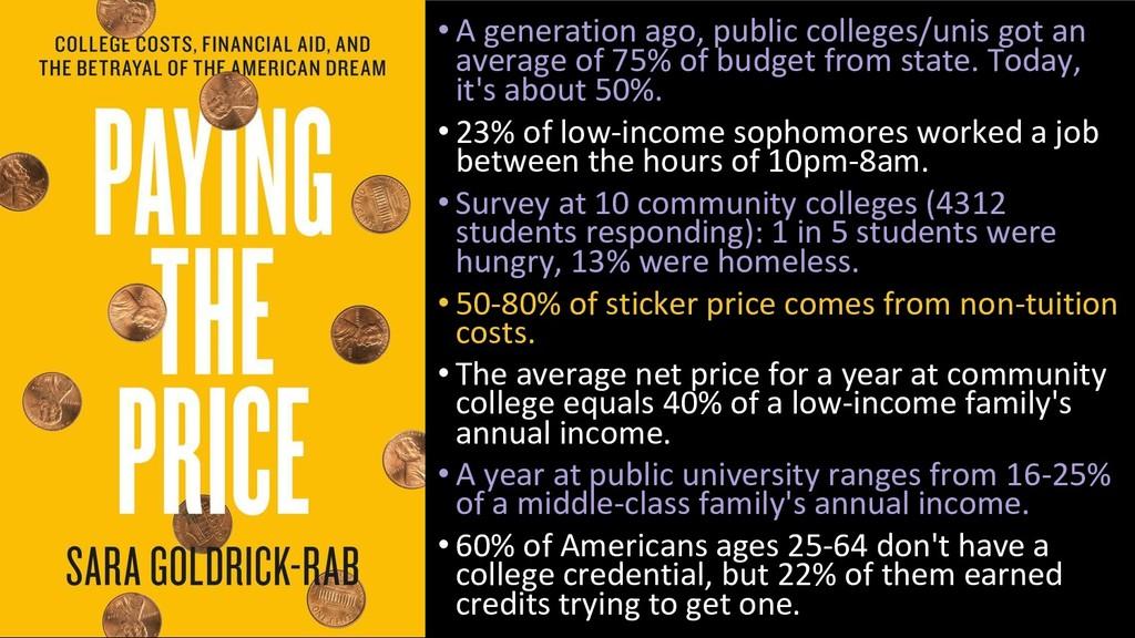 • A generation ago, public colleges/unis got an...