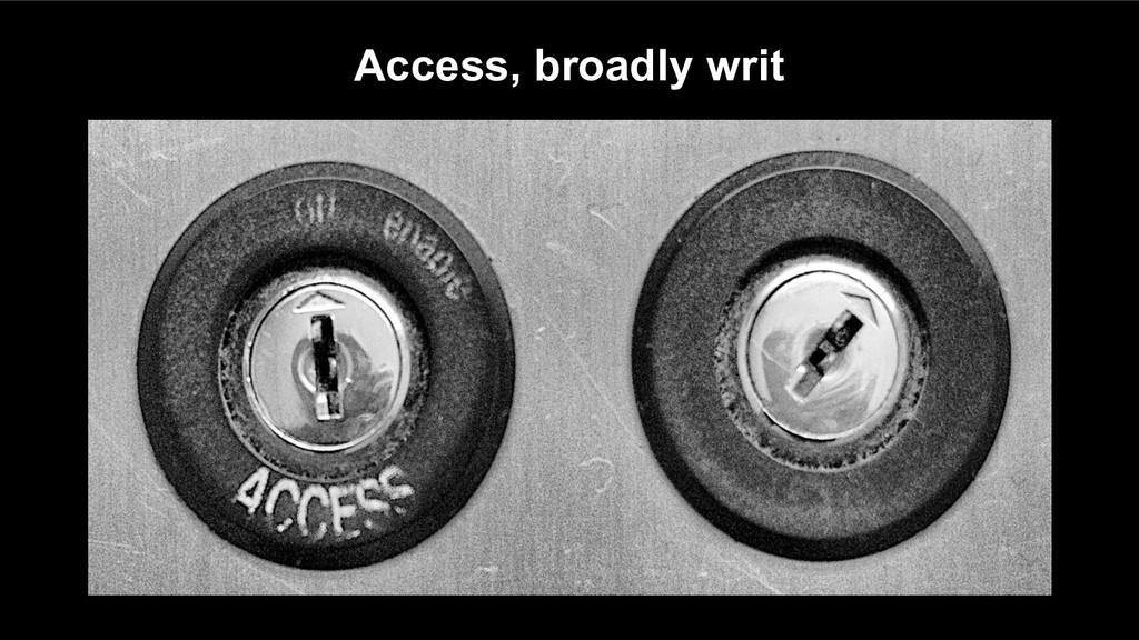 Access, broadly writ