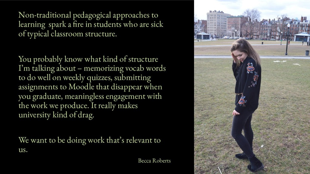 Non-traditional pedagogical approaches to learn...
