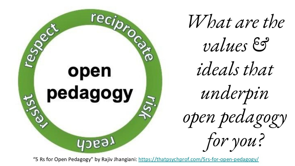 What are the values & ideals that underpin open...
