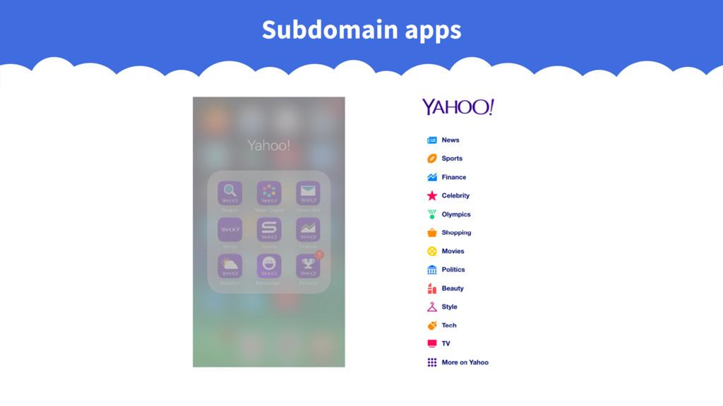Subdomain apps