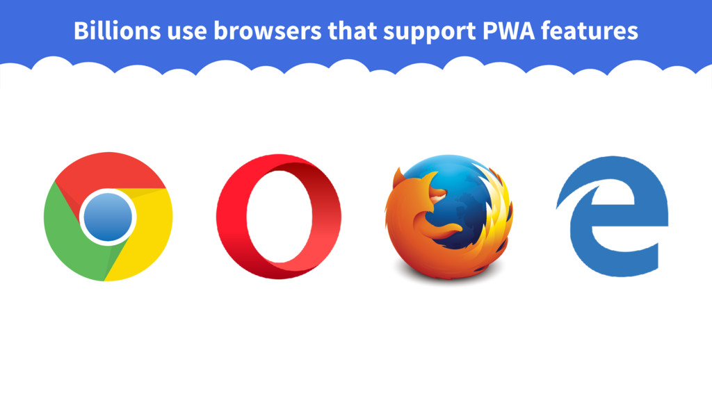 Billions use browsers that support PWA features