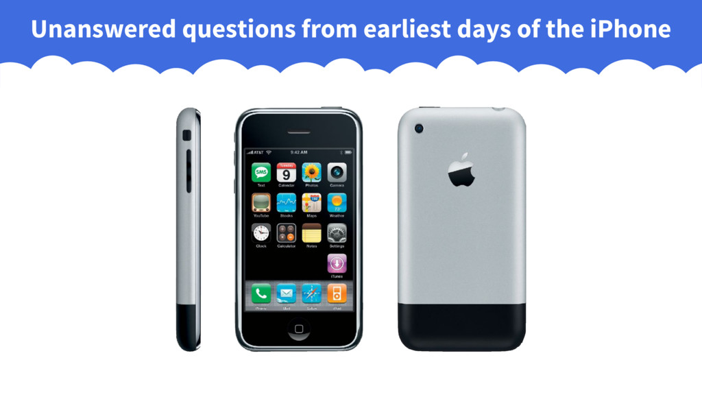 Unanswered questions from earliest days of the ...