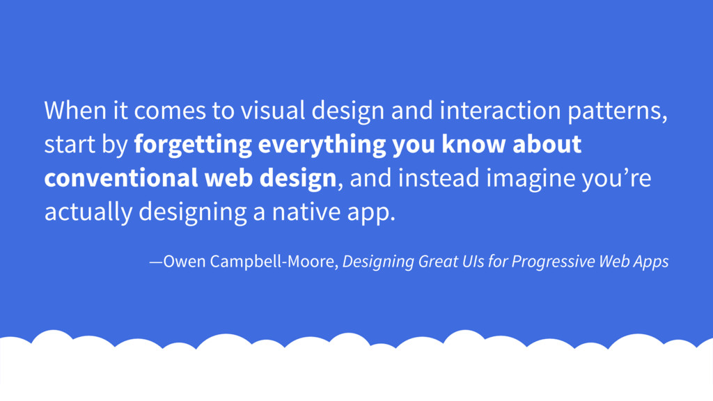 When it comes to visual design and interaction ...