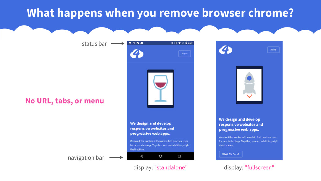 What happens when you remove browser chrome? di...