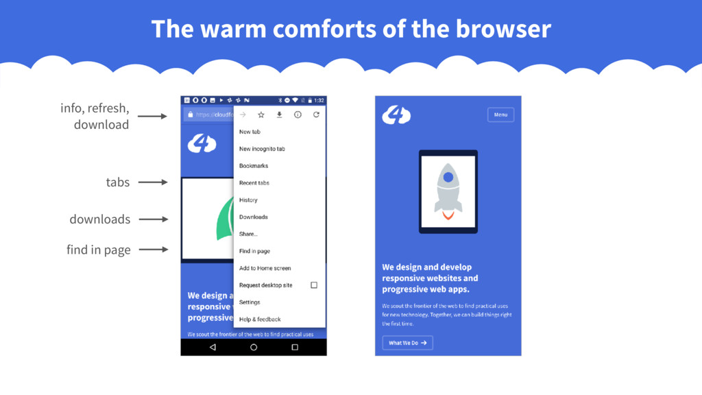 The warm comforts of the browser info, refresh,...