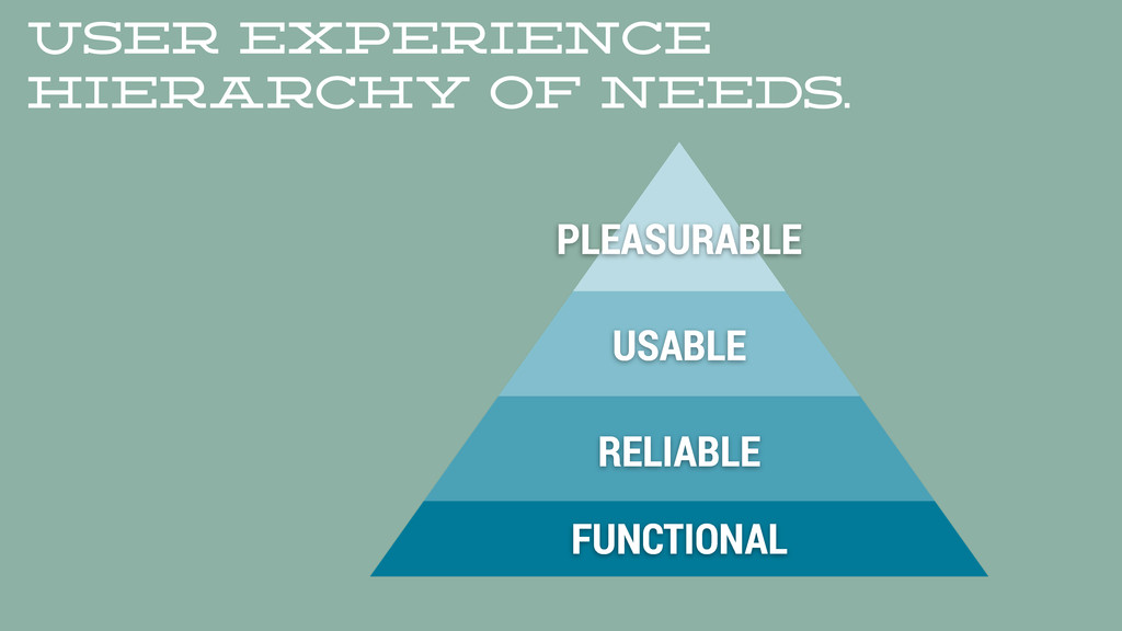 user Experience hierarchy of needs. FUNCTIONAL ...