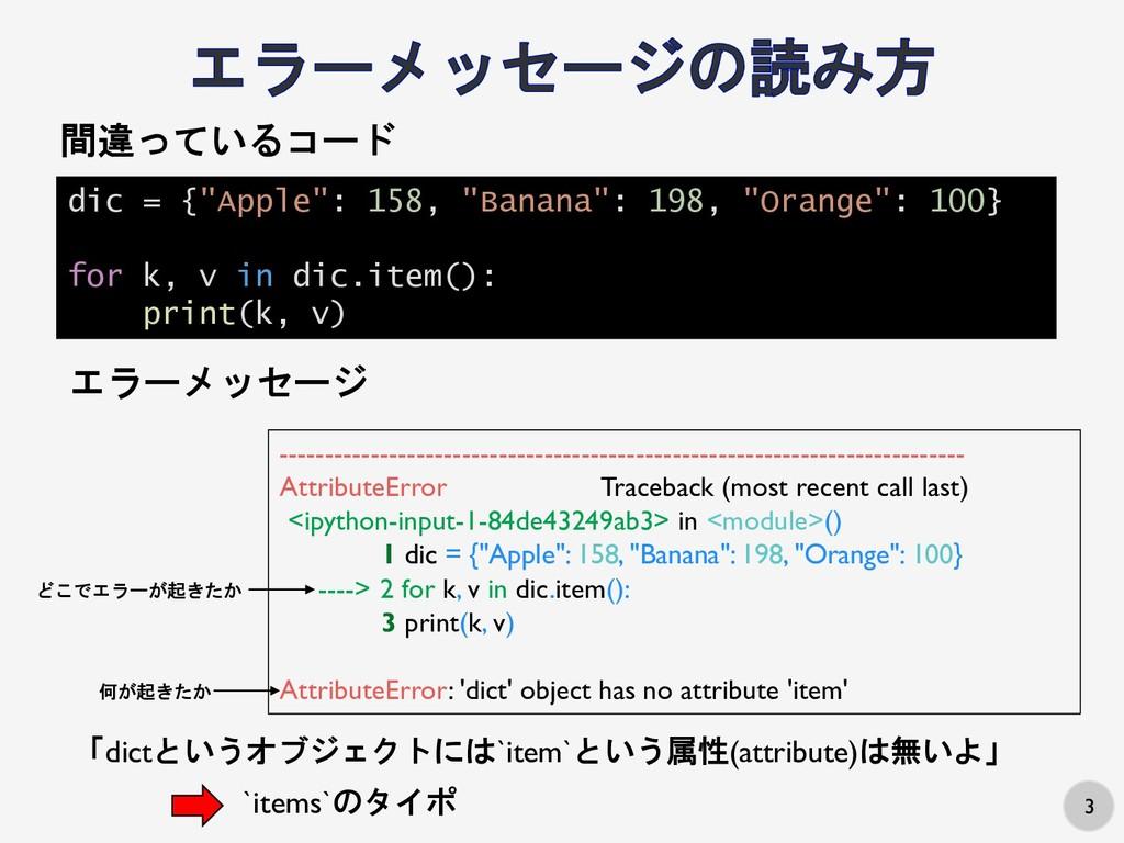 "3 dic = {""Apple"": 158, ""Banana"": 198, ""Orange"":..."