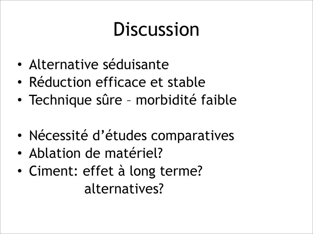 Discussion • Alternative séduisante • Réduction...