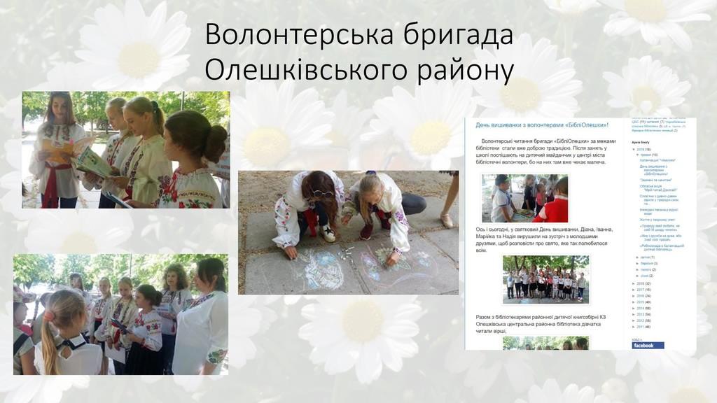 Волонтерська бригада Олешківського району