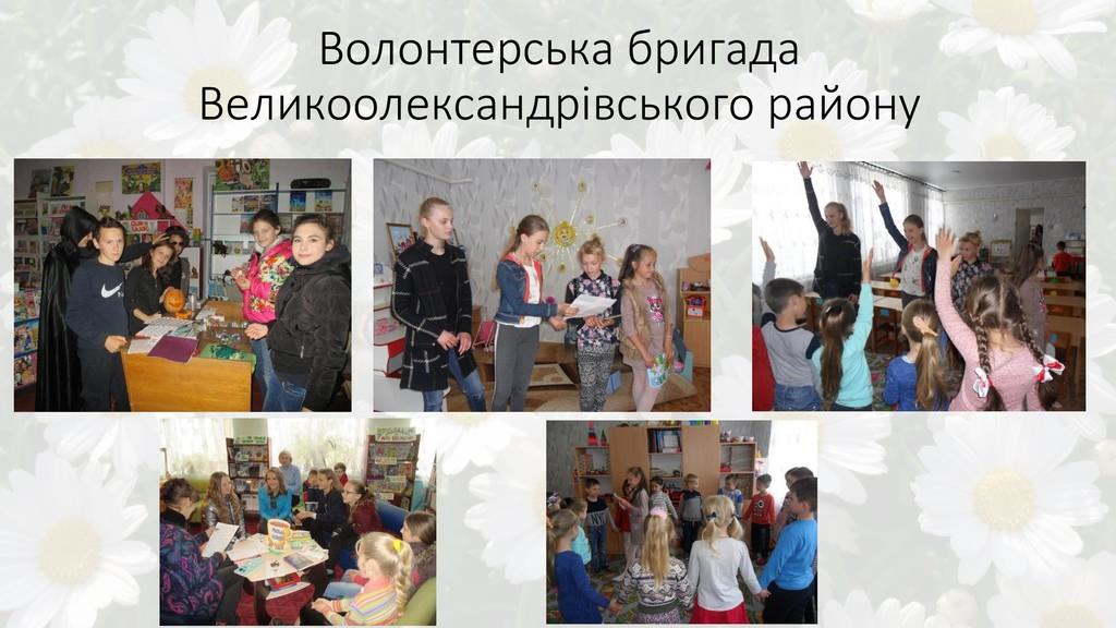 Волонтерська бригада Великоолександрівського ра...