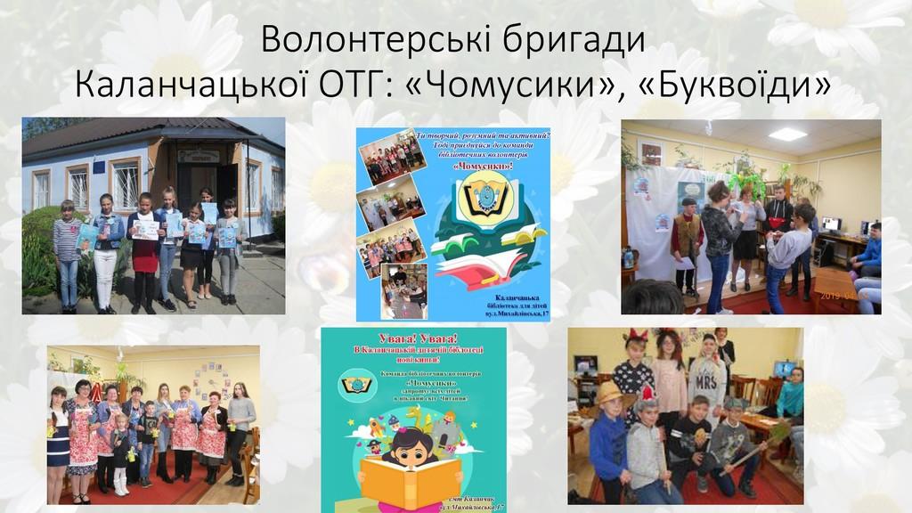 Волонтерські бригади Каланчацької ОТГ: «Чомусик...
