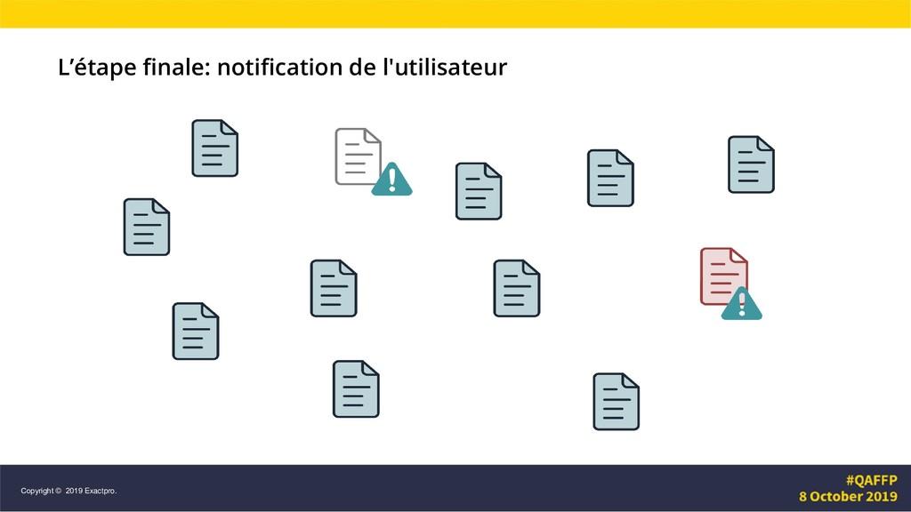 L'étape finale: notification de l'utilisateur C...