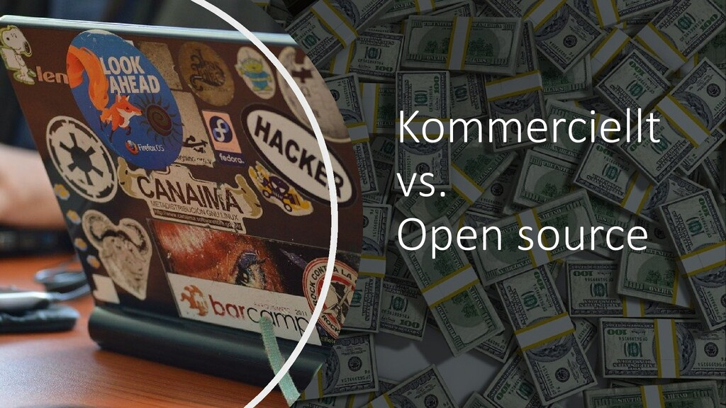 Kommerciellt vs. Open source