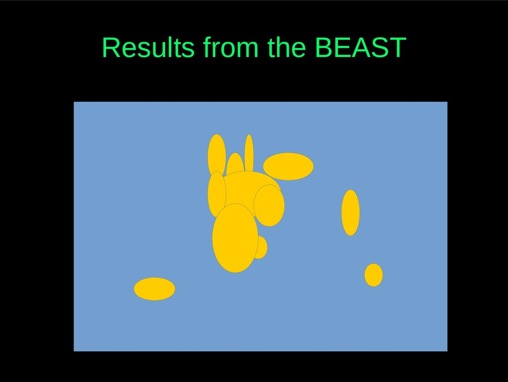 Results from the BEAST