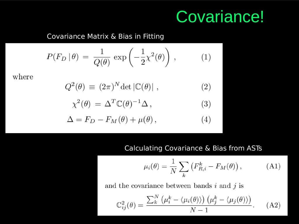 Covariance! Covariance Matrix & Bias in Fitting...