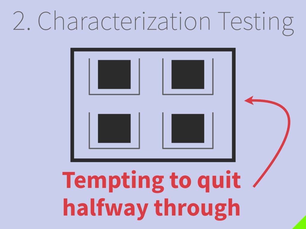 2. Characterization Testing Tempting to quit ha...