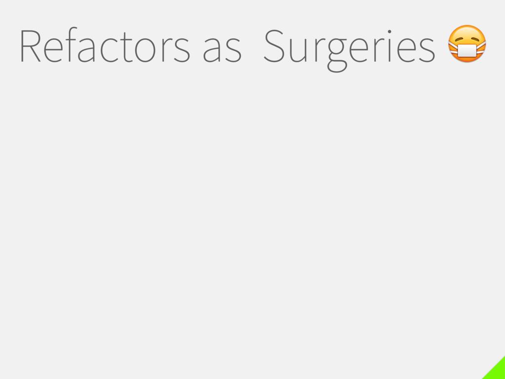 Refactors as Surgeries