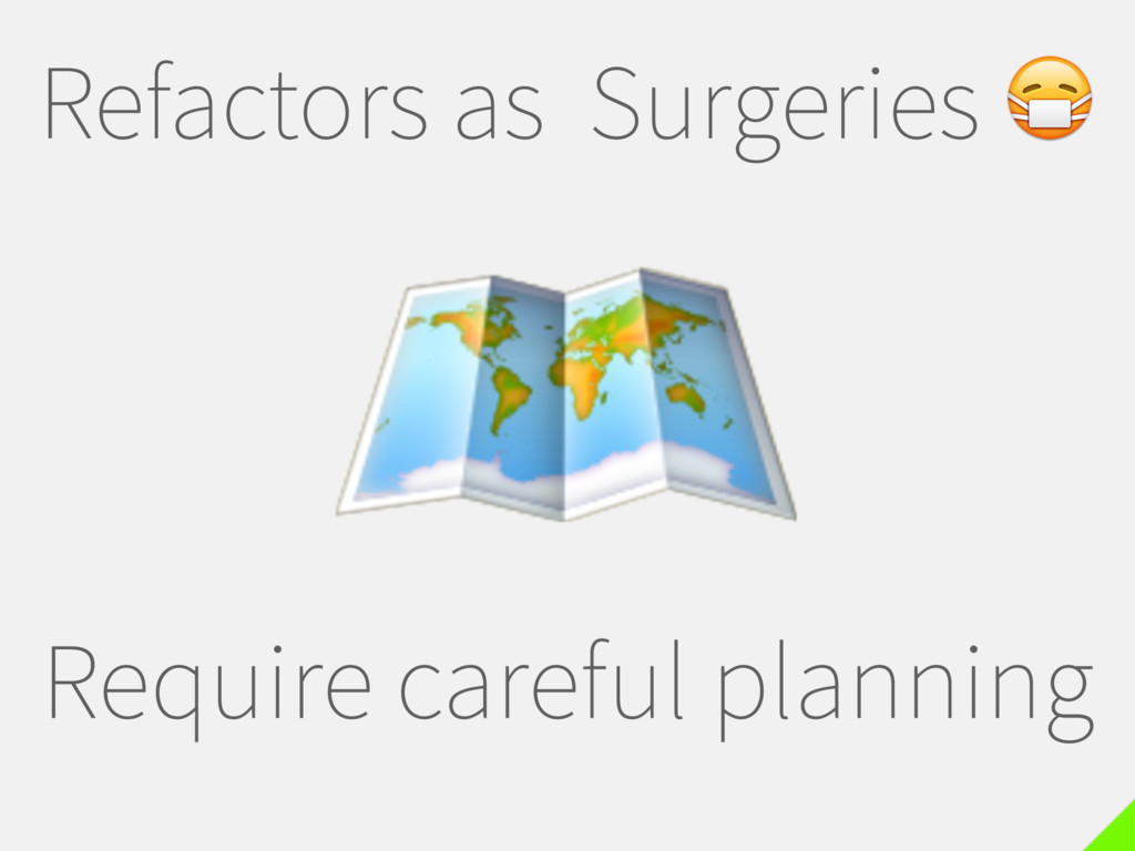 Refactors as Surgeries  Require careful plannin...