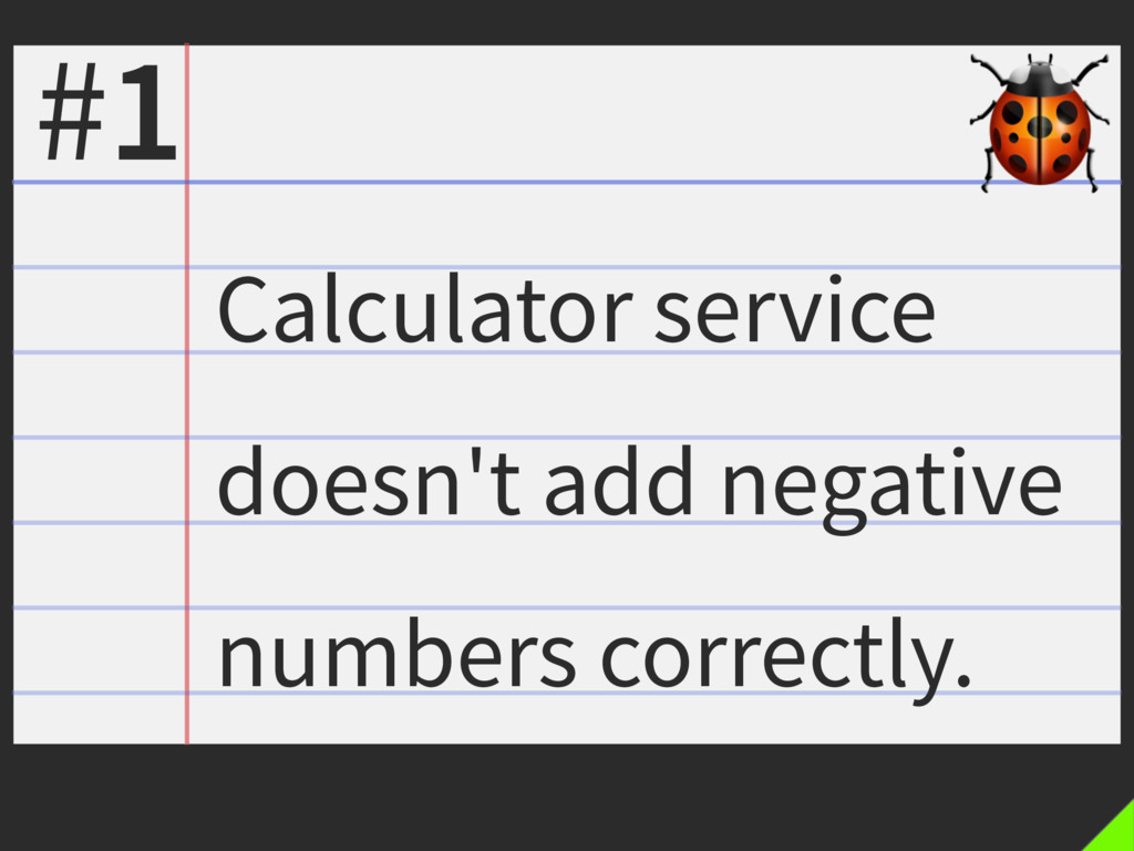 Calculator service doesn't add negative numbers...
