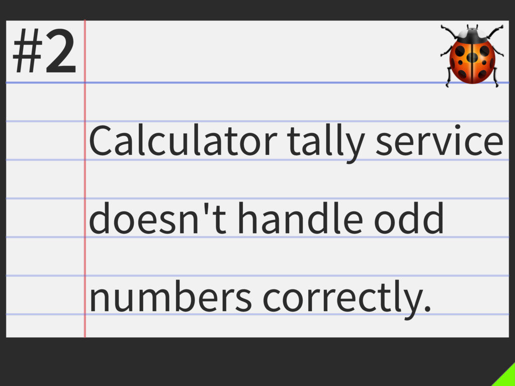 Calculator tally service doesn't handle odd num...