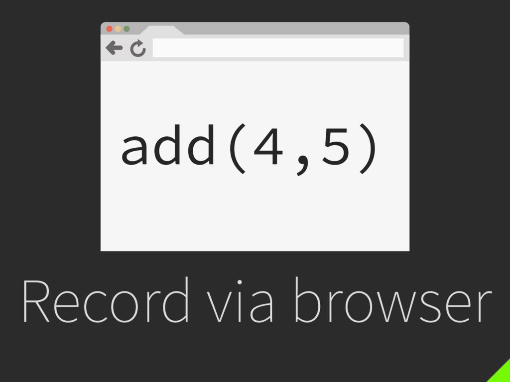 Record via browser add(4,5)
